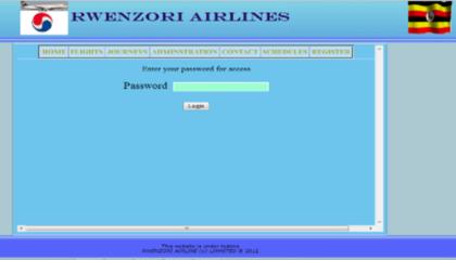 Admin Password Interface