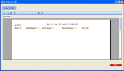 PAYROLL REPORT