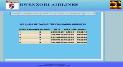 Schedule Details Interface