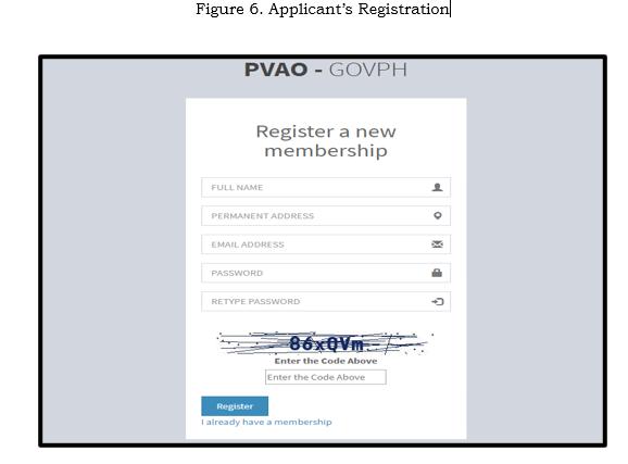 Applicants Registration
