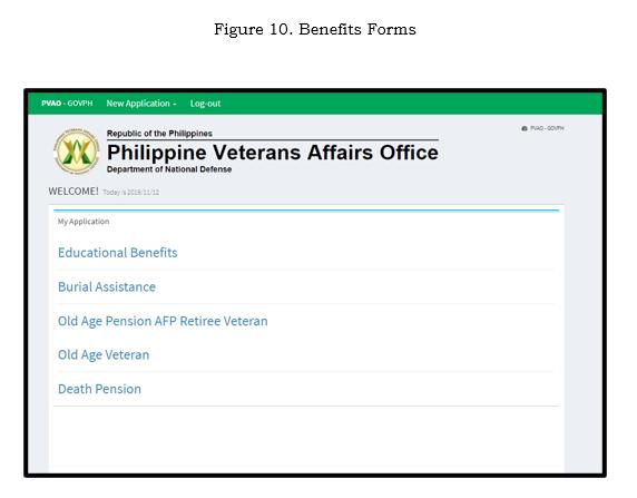 Benefits form