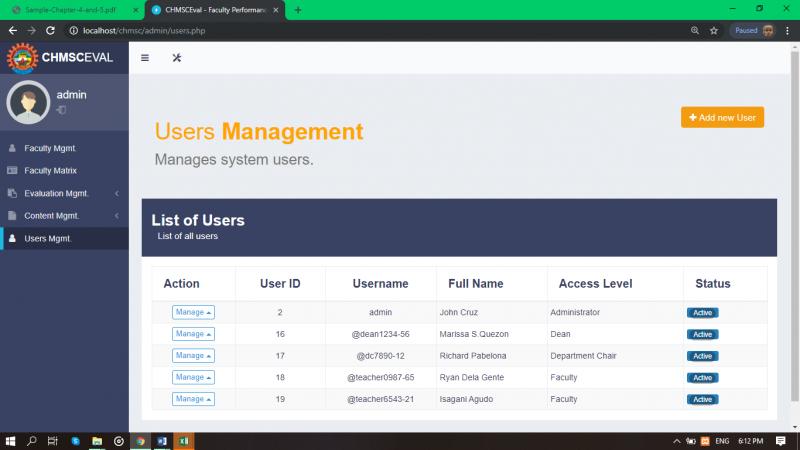 Users Managemenr