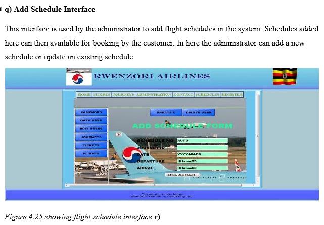 Add Schedule Interface