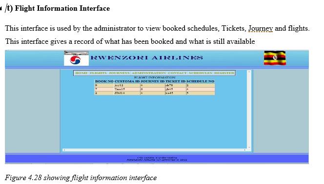 Flight Info Interface