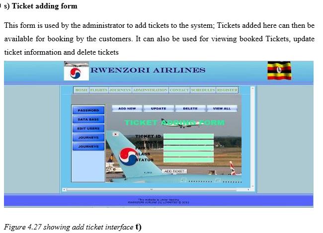 Ticket Adding Form