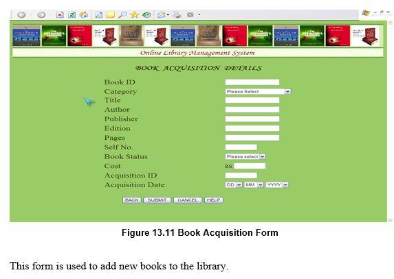 Book Aquisition Form
