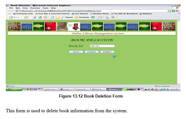 Book Deletion Form