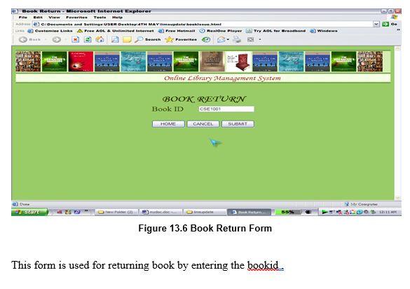 Book Return Form